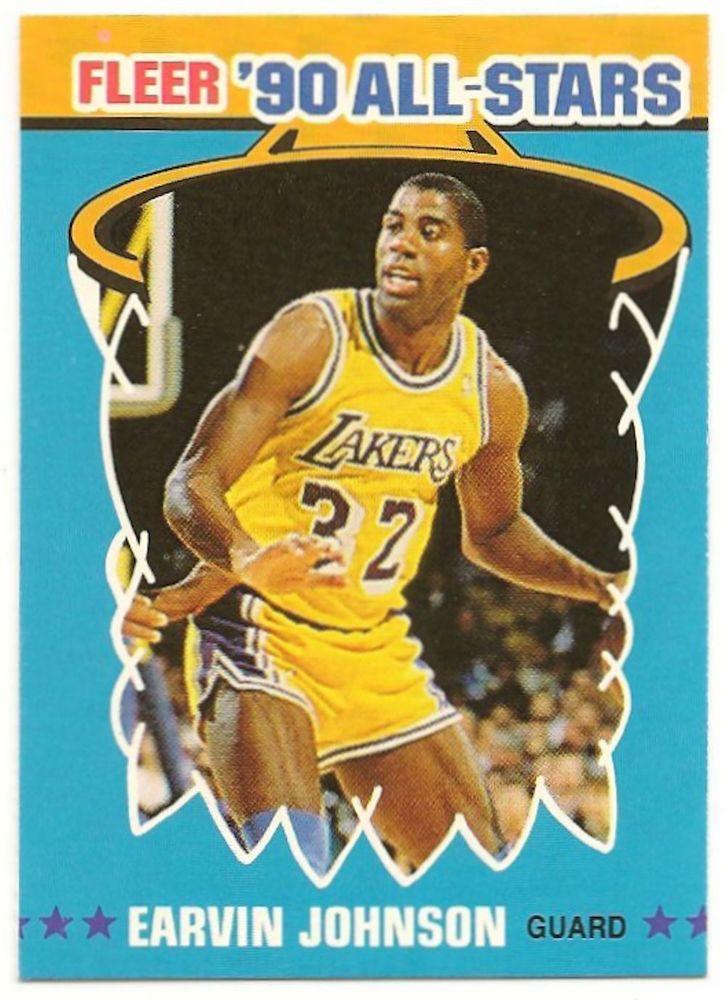 magic johnson basketball card 1990