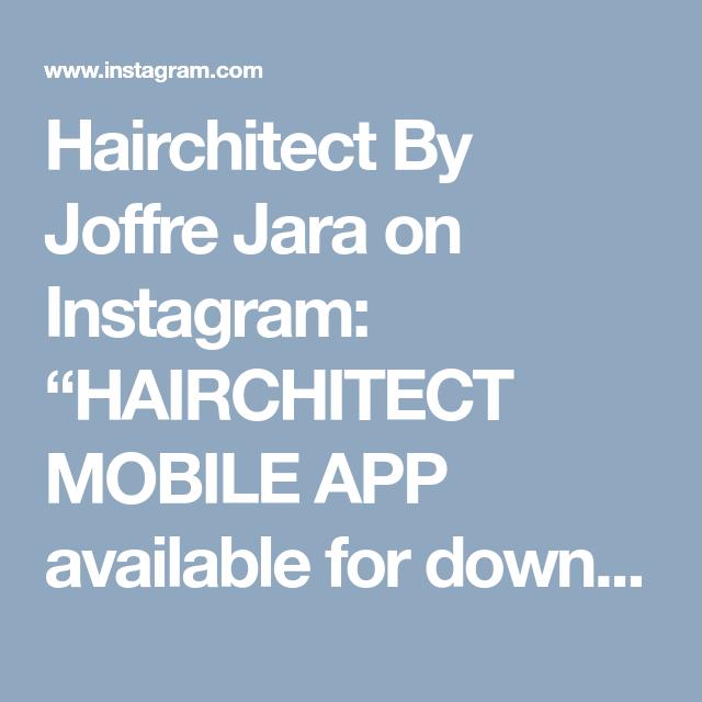 Hairchitect By Joffre Jara On Instagram   U201chairchitect