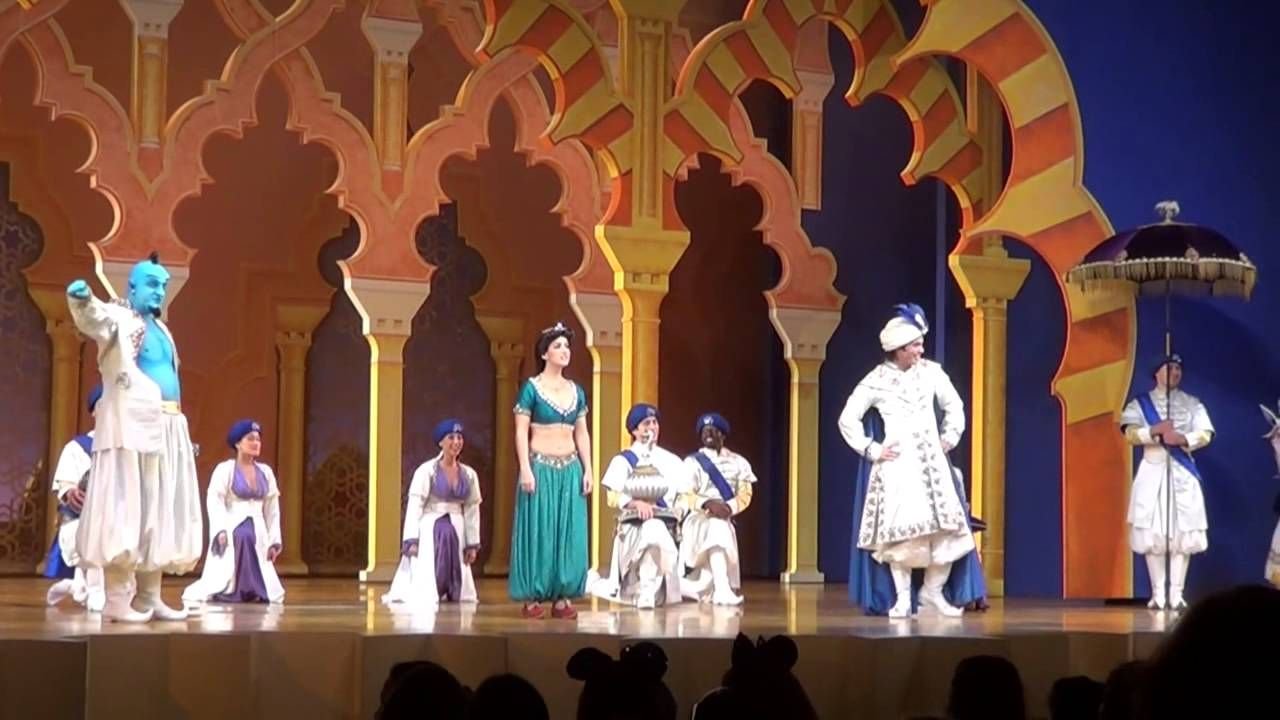 Disney S Aladdin A Musical Spectacular Complete Show W Flying Carpet Aladdin Musical Disney Aladdin Aladdin Birthday Party