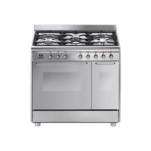 Cuisinière Grande Largeur SMEG CG PX Numéro Et Cuisines - Grande gaziniere 6 feux pour idees de deco de cuisine