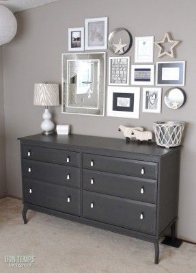 Dark Gray Painted Dresser Google Search Furniture Redo
