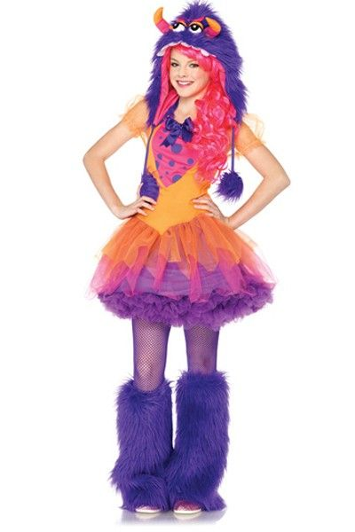 Orange Purple 2 PC Furrocious Frankie Juniors Costume @ Amiclubwear - cute teenage halloween costume ideas