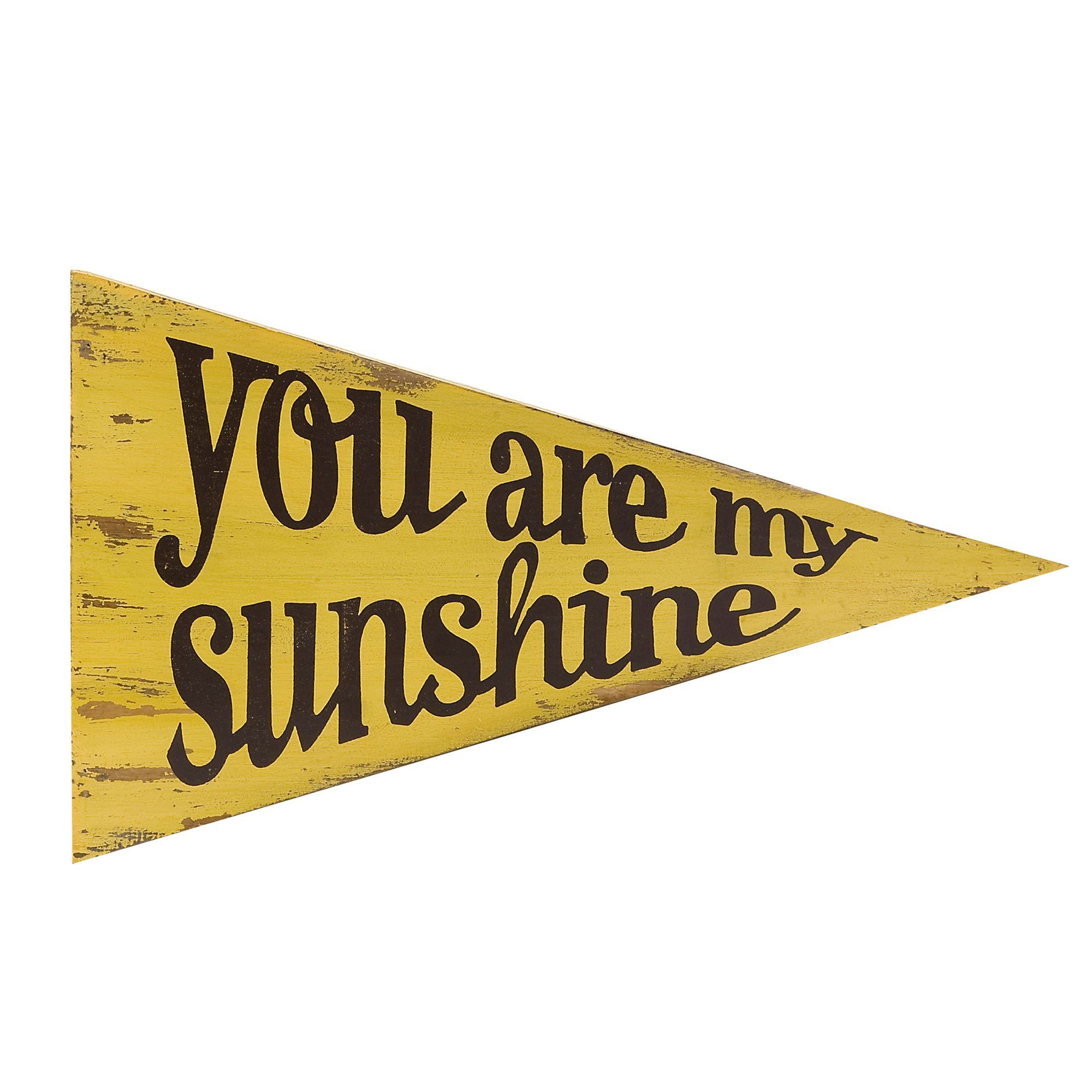 Imax Sunshine Pennant Wall Decor (Sunshine Pennant), Black (Wood ...
