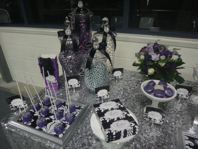 Purple Black White And Silver Birthday Party Ideas Party Ideas