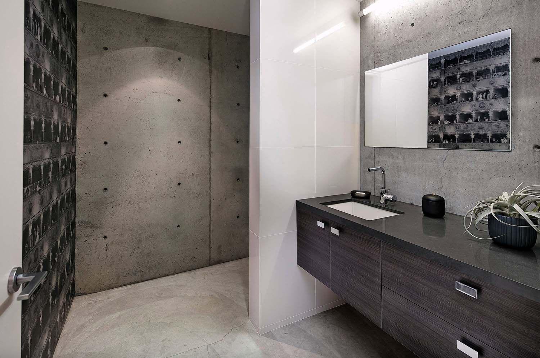 Mitte Jahrhundert Modernes Interieur Wohnzimmer Loftähnliches Modernes  Baumhaus Mit Hellen Innenräumen In La Die