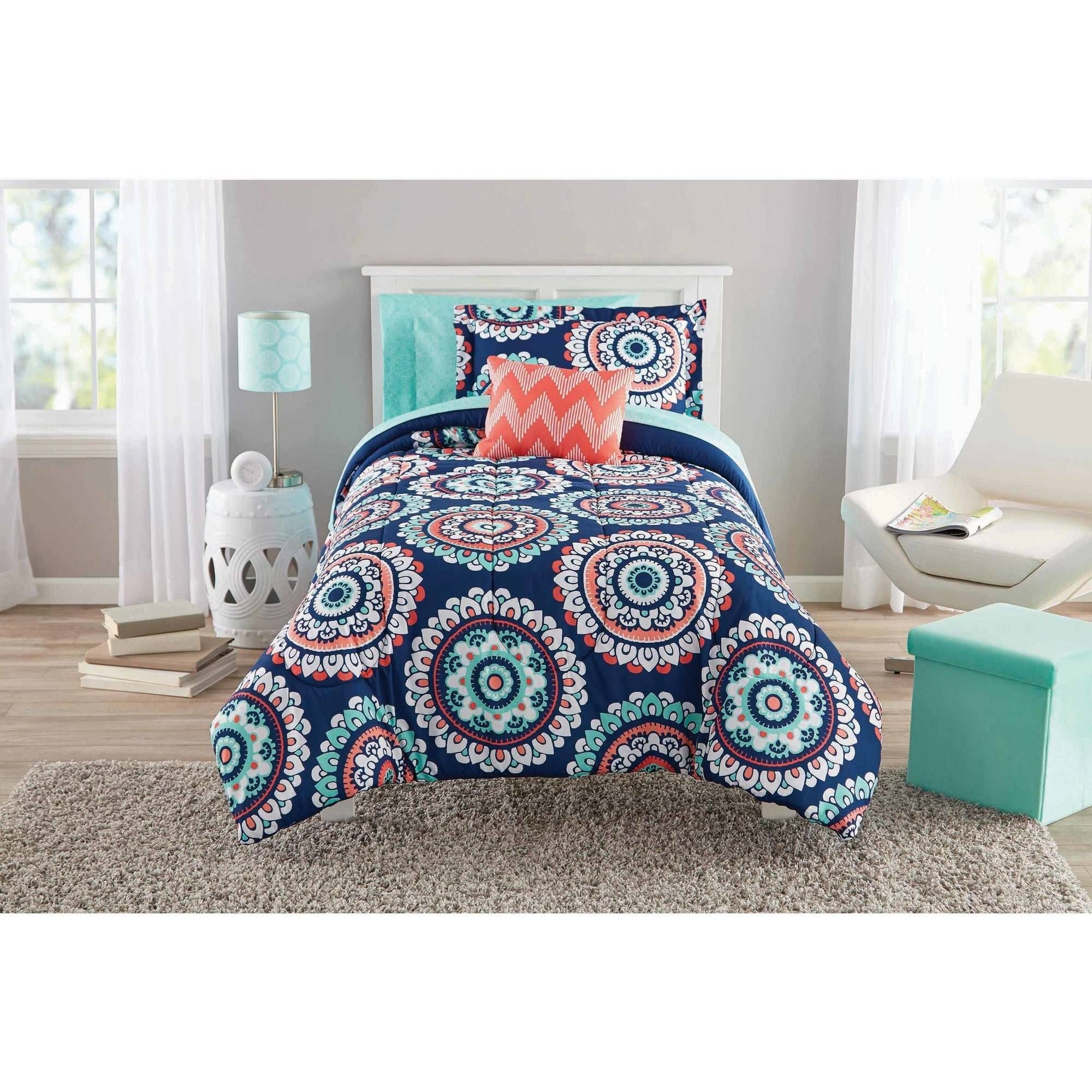 zone set bag mi bath bed sea shipping under product sheet overstock in with a piece the kids blue bedding printed today free