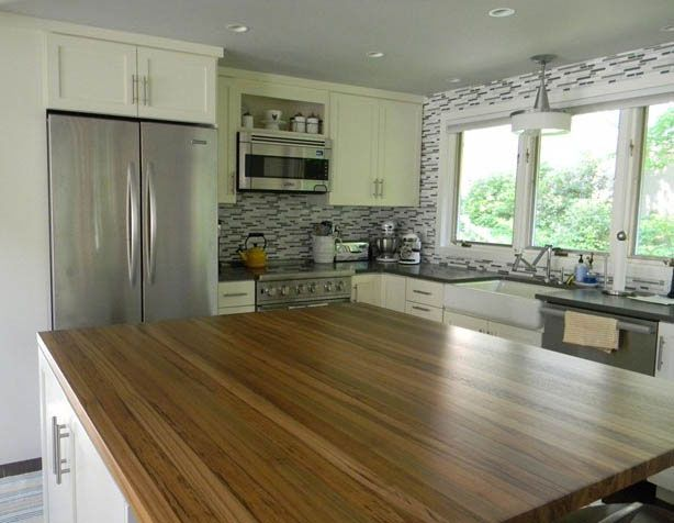 Teak Wood Countertop in Madison, New Hampshire by | Barra