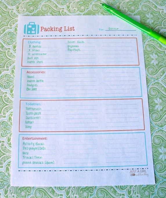 Organized Packing Free Printable Packing List Free printable - packing checklist template