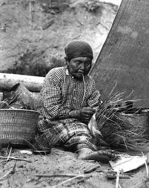 baskets of native americans   puget sound salish basketmaker ca 1900 anders b wilse photographer ...