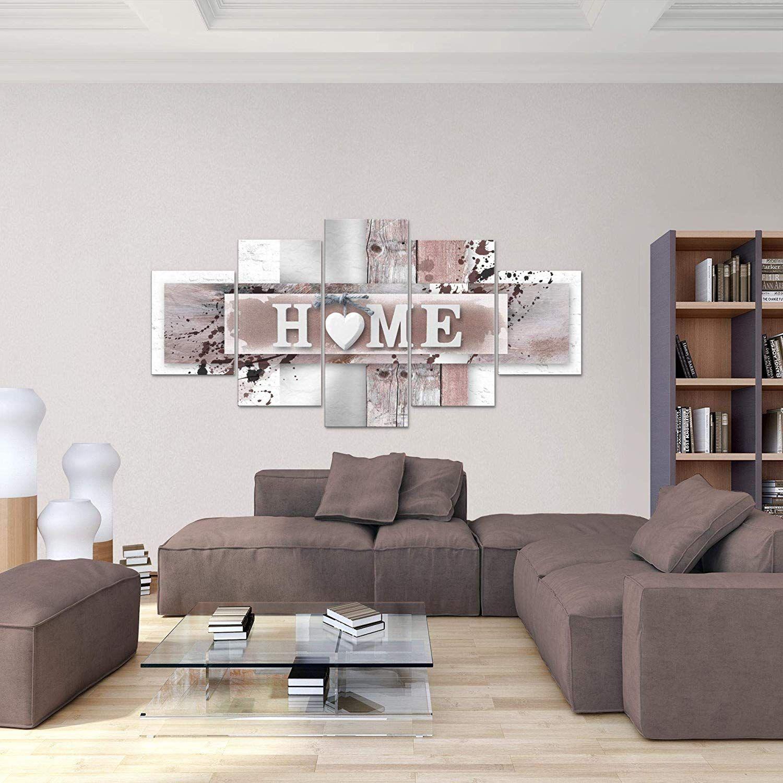 Bilder Home Herz Wandbild 200 x 100 cm Vlies - Leinwand Bild ...