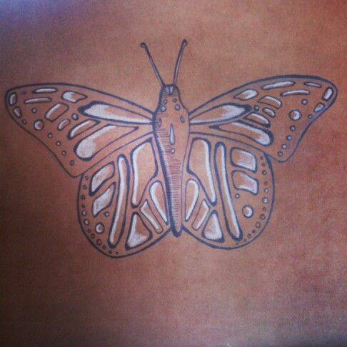 Butterfly drawing  #butterfly #drawing #art #brownpaper #fineliner #ink #whitepencil #pencil