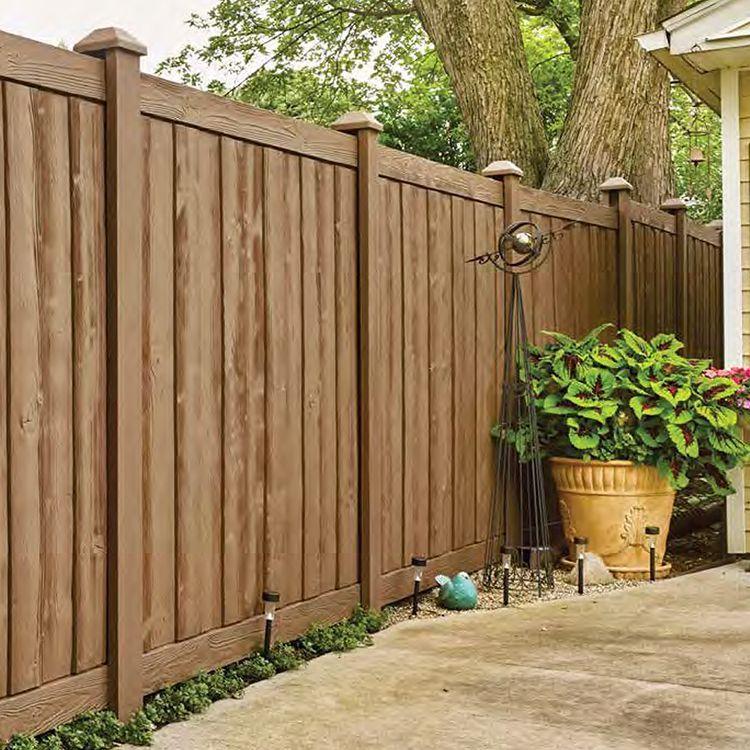 Bufftech Sherwood Vinyl Fence Panels In 2020 Vinyl Fence Vinyl Fence Panels Wood Grain Vinyl Fence