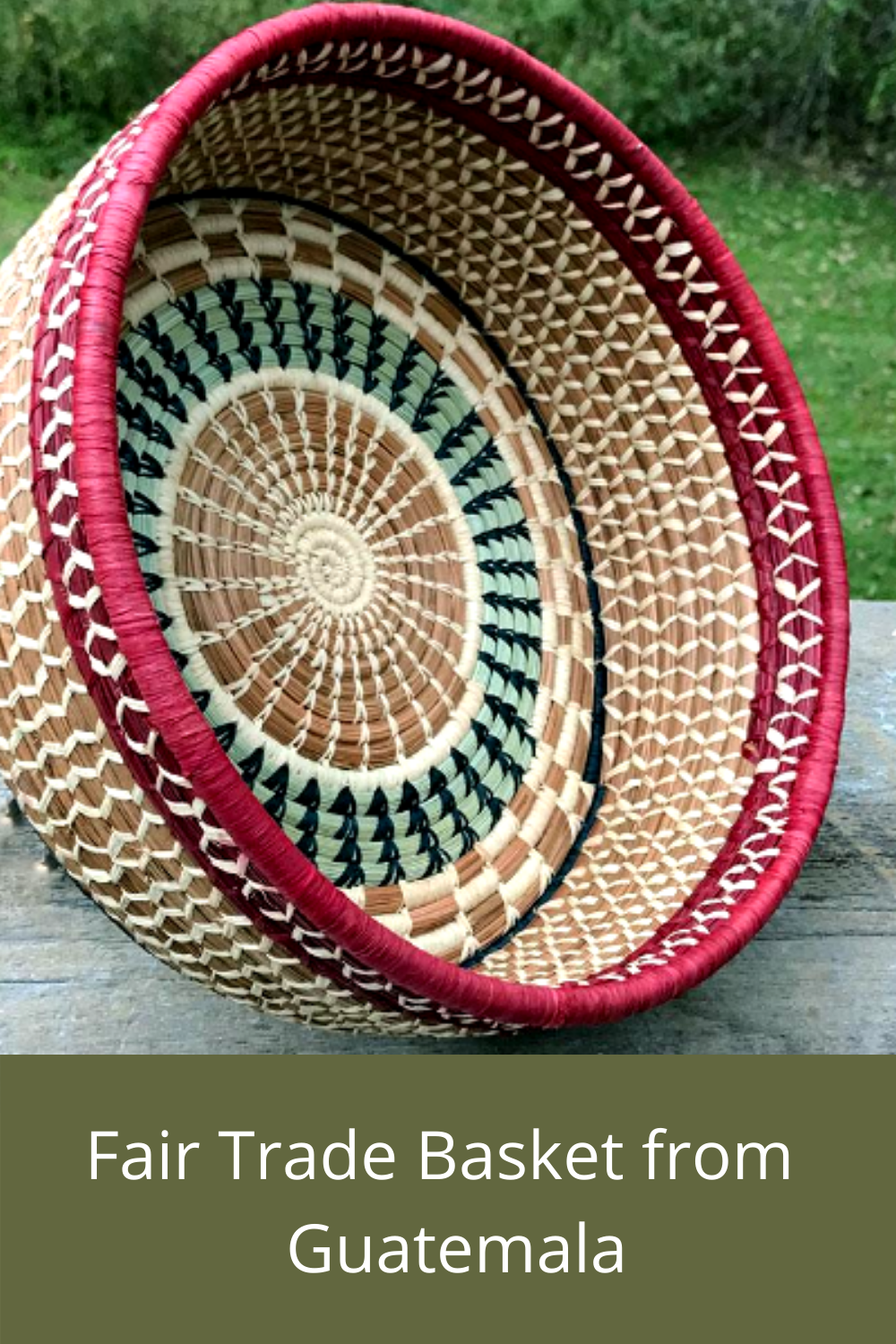 Basket designed and handcrafted by Mayan women in