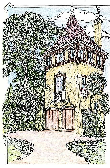 Plan 11601gc Romantic Carriage House Plan In 2021 Carriage House Plans Castle House Plans Storybook Cottage