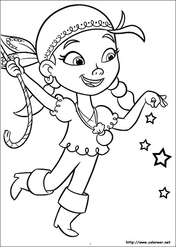jake and the neverland pirates coloring pages Dibujos de Jake y