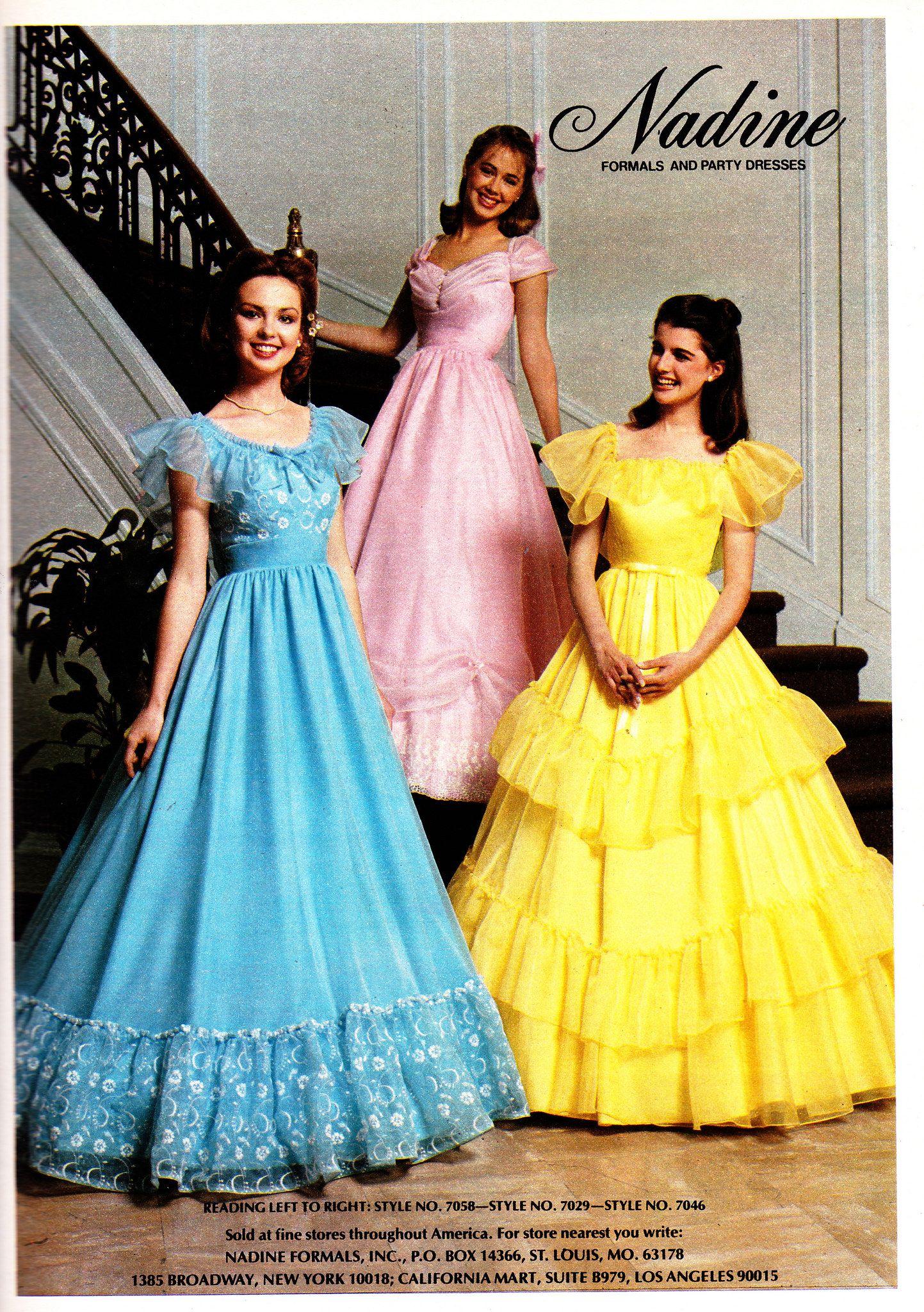 Nadine 1980 Prom Dresses Vintage 80s Prom Dress 80s Dresses [ 2048 x 1443 Pixel ]