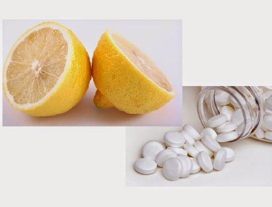 Aspirin kết hợp với chanh trị mụn