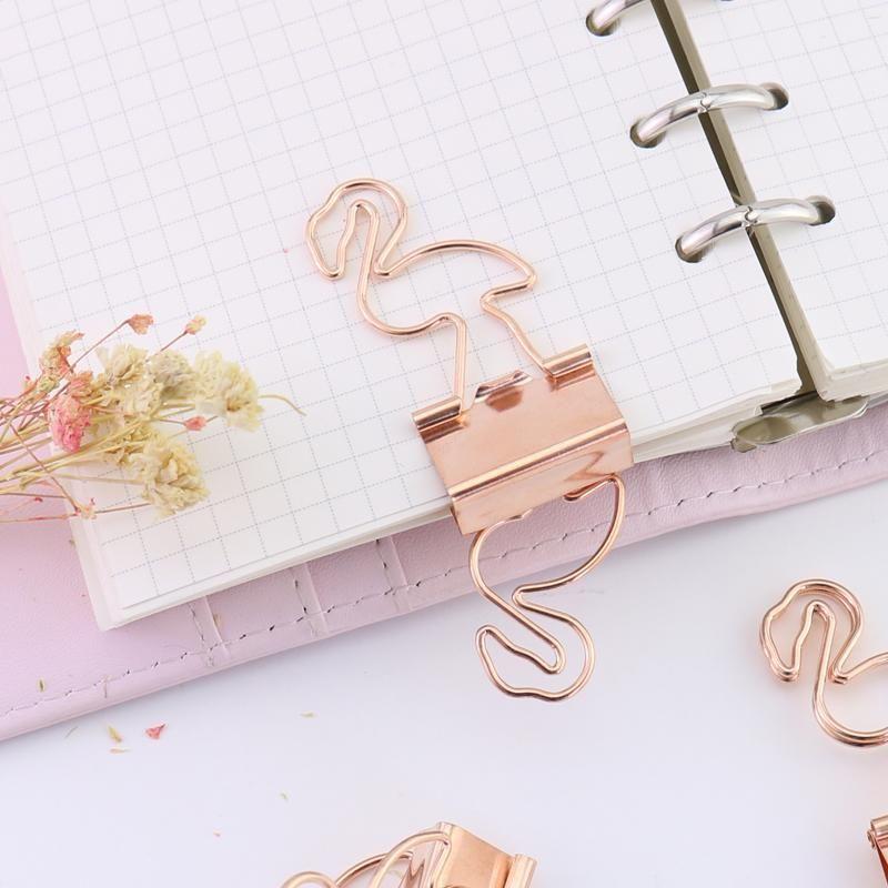 Binder Clips 25mm Paper Clip Decorative Mini Design Metal Binder Diy For Book Stationery School Office Desk Accessories Office Binding Supplies