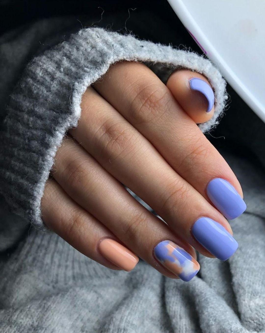 So Cute Short Acrylic Nails Ideas You Will Love Them Short Acrylic Nails Purple Nail Designs Shiny Nails Designs