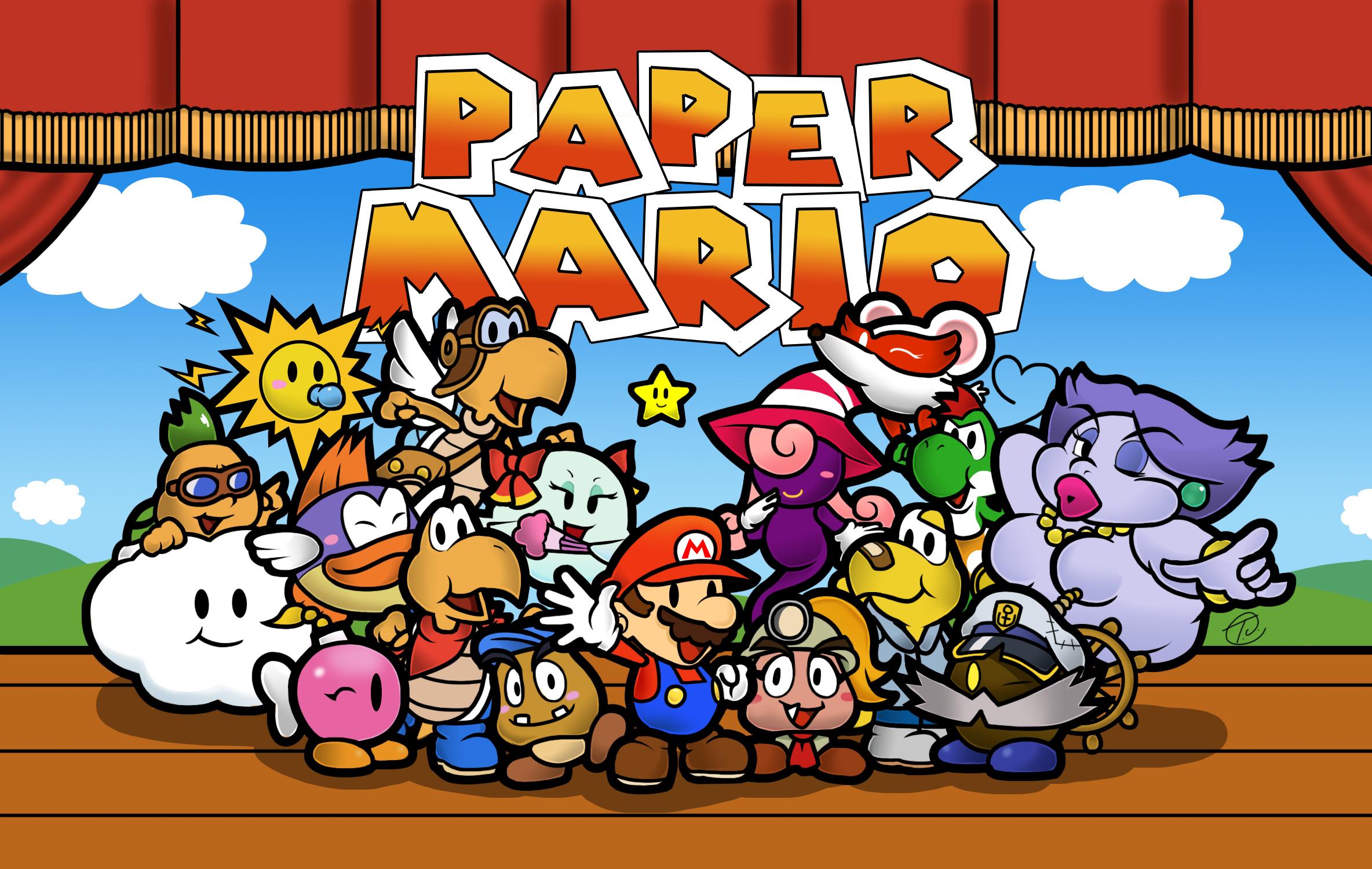 Paper Mario La Puerta Milenaria En Ingles Paper Mario The Thousand Year Door Es La Continuacion Y La Secuela De Paper Mario De Paper Mario Mario Mario Art