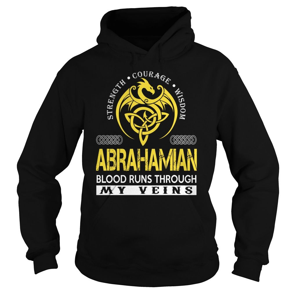 ABRAHAMIAN Blood Runs Through My Veins - Last Name, Surname TShirts
