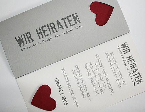 Hochzeitskarte Grau Be Grey No 3 Safe The Date Einladungen