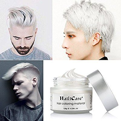 Amazon Com Hailicare White Hair Wax 4 23 Oz Professional Hair Pomades Natural White Matte Hairstyle Max For Me Hair Pomade Dyed Hair Men Natural Hair Styles