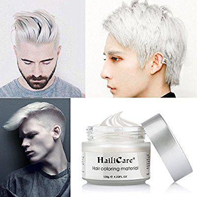 Amazon Com Hailicare White Hair Wax 4 23 Oz Professional Hair Pomades Natural White Matte Hairstyle Max For Me Hair Pomade Dyed Hair Men Natural Hair Styles