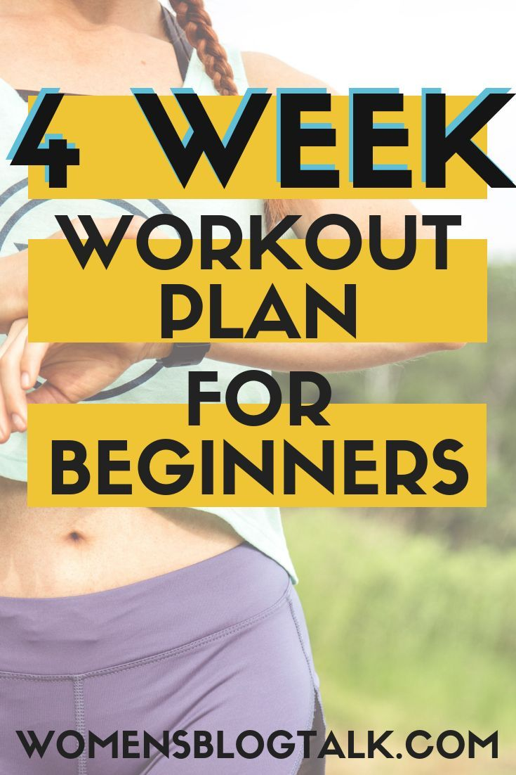 Photo of 4-Week Workout Plan for Beginners