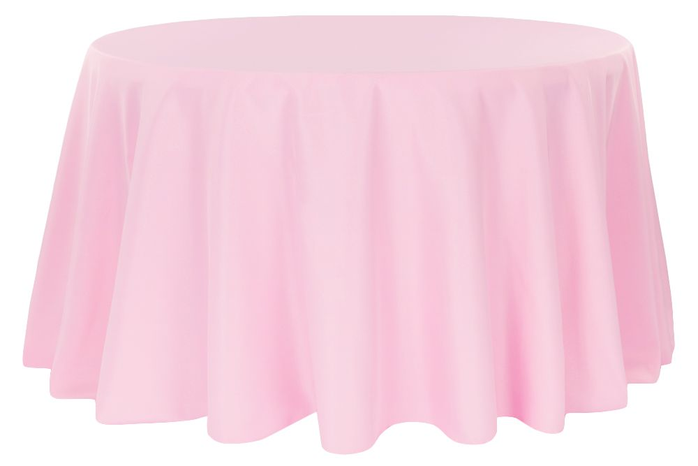 Polyester 108 Round Tablecloth Pink Table Skirt Table Cloth Cheap Tablecloths