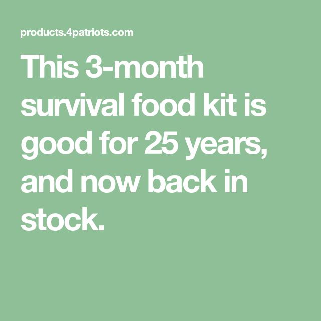 survival month 4patriots kits kit emergency preparedness years