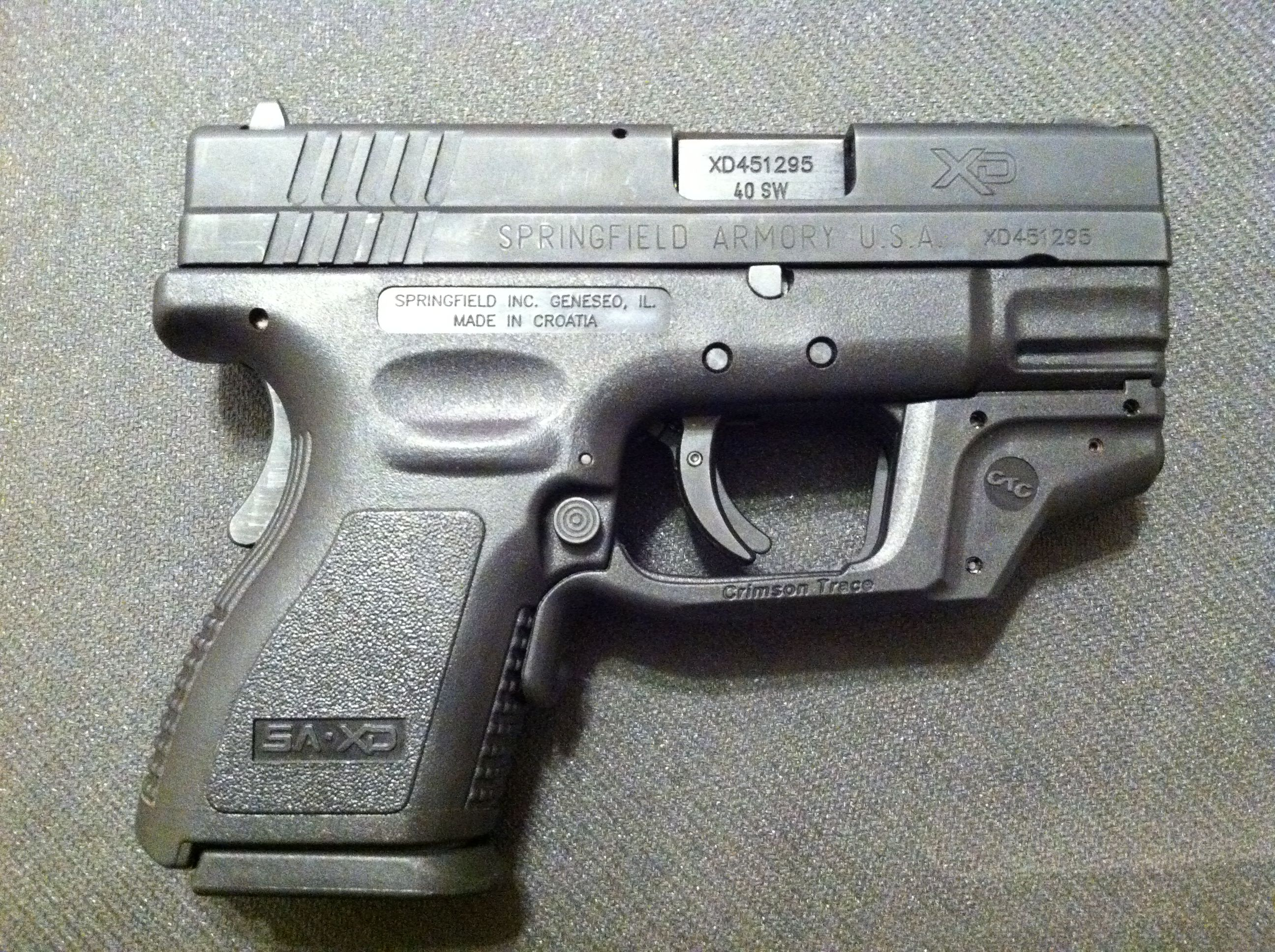 Springfield armory XD40 with crimson trace laser guard