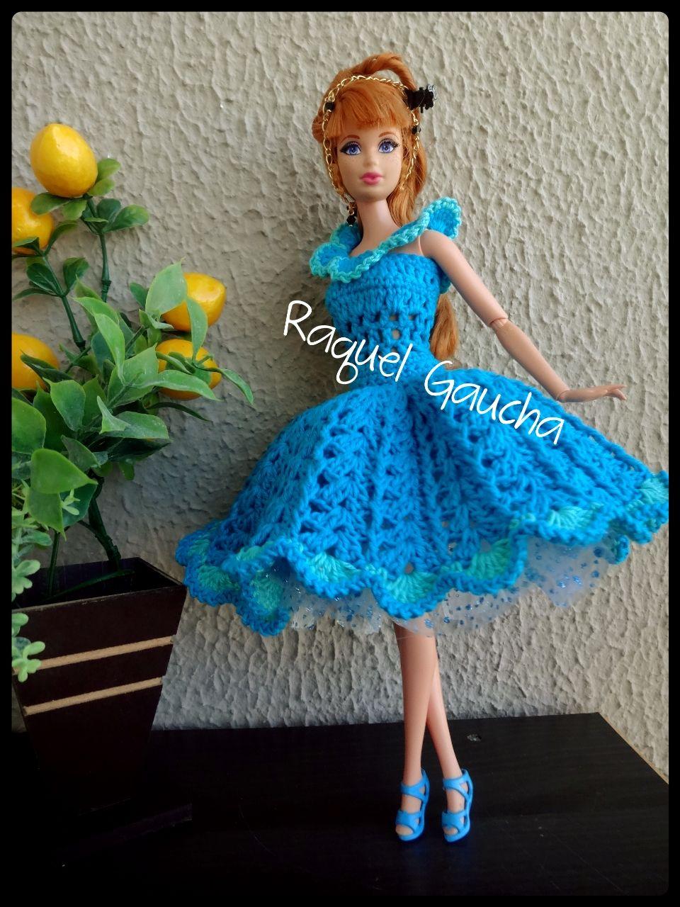 IrisFashion #Crochet #Barbie #Doll #Muñeca #Vestido #Dress ...