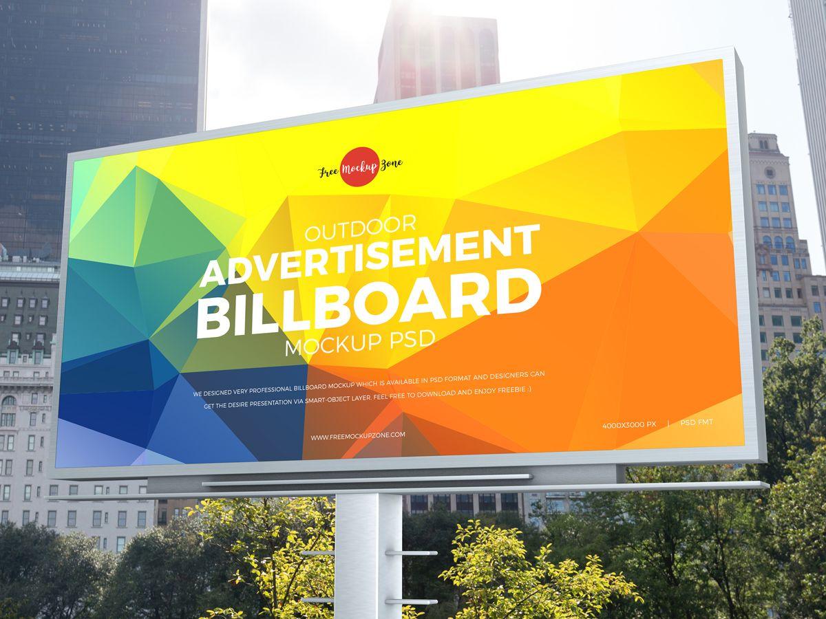 Free City Outdoor Advertisement Billboard Mockup Psd 2019 600 Billboard Mockup Advertising Billboard