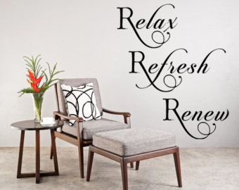 RELAX wall art STICKER new bedroom design Bathroom DECOR