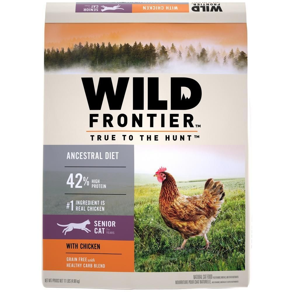 Wild Frontier Grain Free Senior Ancestral Diet Chicken Recipe Dry Cat Food Dry Cat Food Chicken Flavors Chicken Recipes Dry