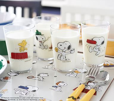 Brilliant Peanuts Snoopy Melamine Tumbler Set Peanuts Animation Art & Characters