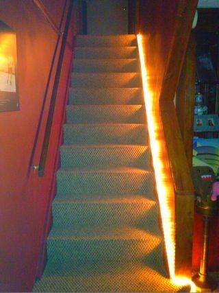 Rope Light For Basement Stairs Diy Home Decor Basement Design Home Diy