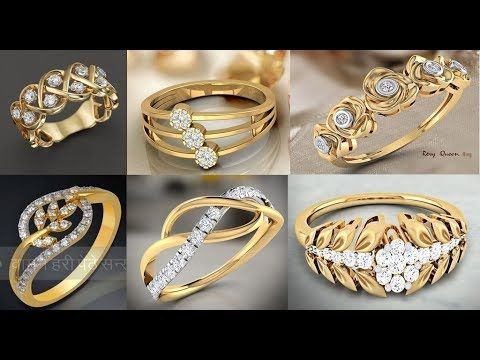 009d38055 latest gold ring designs/ Daily Wear Gold Rings Designs For Women/rings  designs for engagement - YouTube