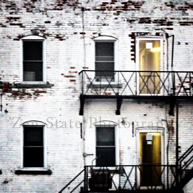 Rustic Building Photo Print White Wall Art Old Building Photography ...