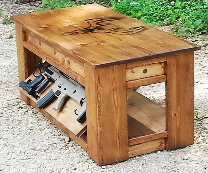 Diy Coffee Table With Hidden Storage Plans: Rough Country Rustic: Gorgeous Wood Concealment Furniture