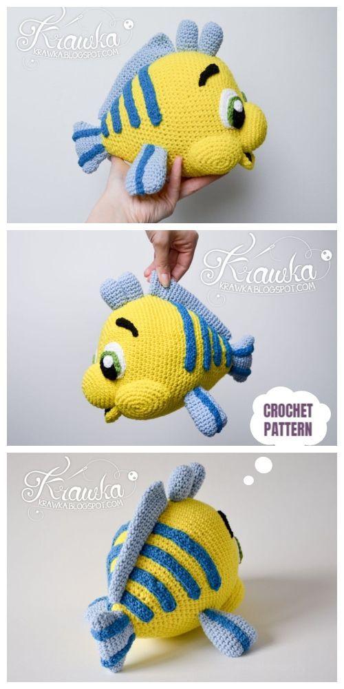 Crochet Flounder Fish Amigurumi Patterns