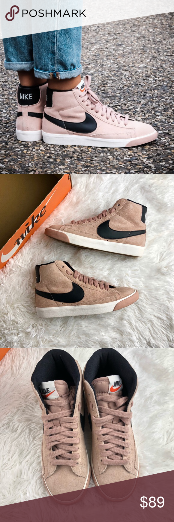 Women s Nike Blazer Mid Vintage Suede Brand new with the box but no lid  Color is particle pink (looks more blush color in person) Nike Shoes  Athletic Shoes 9bdfcbf05