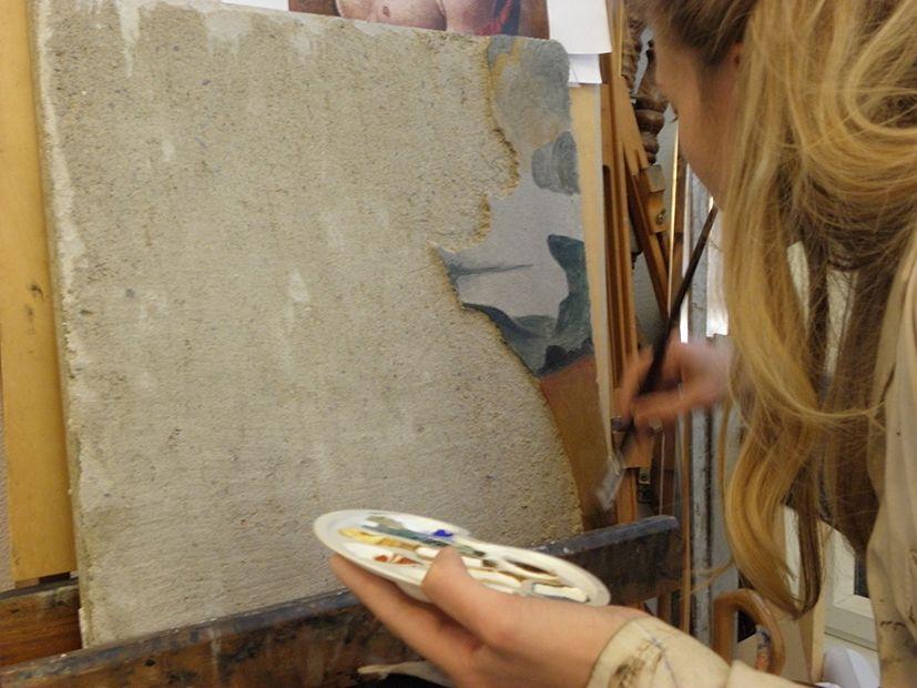 Réalisation d'une fresque