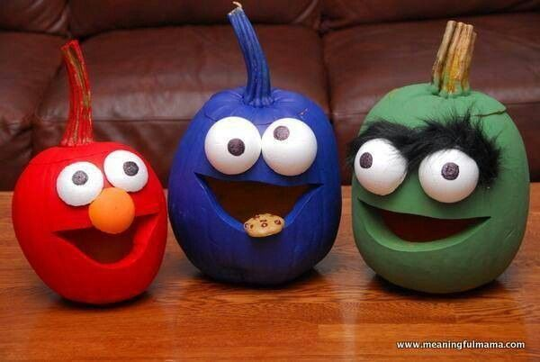 Abby I found the pumpkins to match ur costumes for others - halloween pumpkin painting ideas
