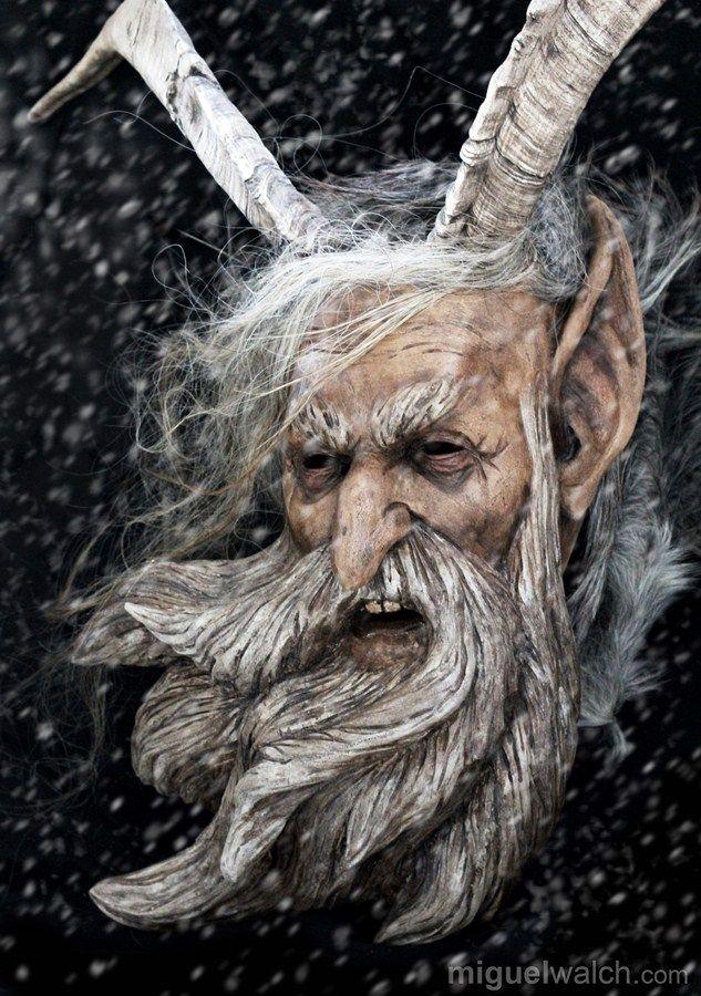 Miguel Walch Wooden Masks Krampus Masks Krampus Krampus Mask