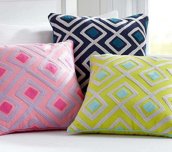 Harper Diamond Geo Decorative Shams Throw Pillows