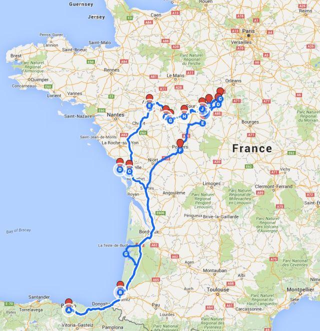 Castillos Del Loira Mapa.Viaje Por Los Castillos Del Valle Del Loira 1ª Parte
