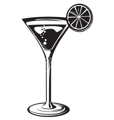 Cocktail glass with lemon vector by Tribaliumvs - Image ...