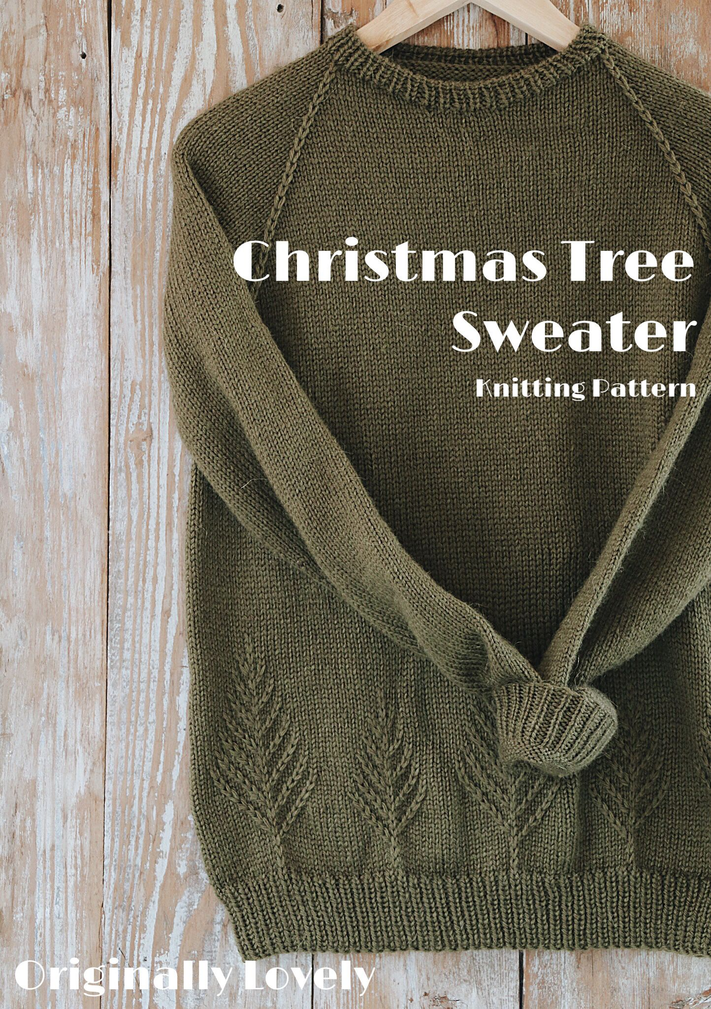 Christmas Tree Sweater Knitting Pattern | Originally Lovely #knittinginspiration
